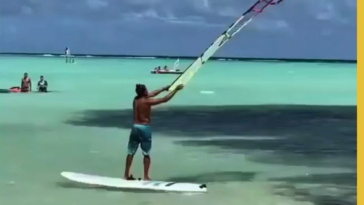 There must be a name for how this sail behaves when he throws it